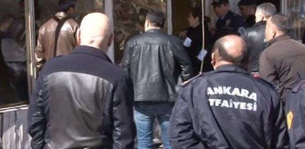 Ankara'da yıkım gerginliği! Kendini yakmak istedi!!